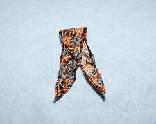HARLEY DAVIDSON Black & Orange Bandana Genuine BARBIE Head Scarf Accessory