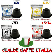 100 Cialde Capsule Caffè Borbone 25 Blu Rosse Nere Oro Compatibili Nespresso