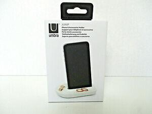 UMBRA JUNIP Phone & Accessories Holder Ceramic Porcelain White NIB New