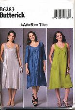 BUTTERICK SEWING PATTERN 6283 MISSES SZ 4-14 KATHERINE TILTON LOOSE FLARED DRESS