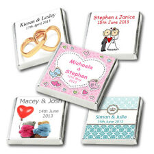 50 Personalised Chocolate Party & Wedding Favours, Huge Choice, Free Post