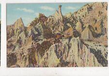 The Sentinel Hells Half Acre Wyoming USA Vintage Postcard 898a
