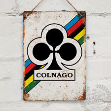 COLNAGO Replica Vintage Metal Wall Sign Plaque Mancave Bike Cycle Retro Tour