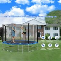 ❥12 FT Kids Trampoline With Enclosure Net Jumping Mat And Spring Cover Padding