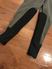 NWT Kerrits sit Tight N Warm Kid's Breeches Pocket Knee patch Small Graphite