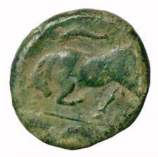 Ancient Greek Syracuse Sicily AE Hemilitron 317-289 BC Persephone Bull Coin