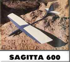 SAGITTA 600 Sailplane, Glider, 79 in WS RC AIrplane Printed Plans &Templates