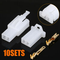 10sets 2.8mm 2Pin Car Electrical Wire Connector Male Female Terminal Plug Kit