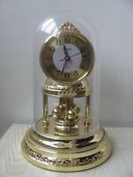 Rare vintage mantel clock HUABA spinning pendulum 1980's