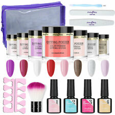 18PCS Nail Dipping Powder Starter Kit Acrylic Dip System Manicure Liquid Nail AU