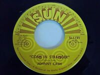 Johnny Cash Come In Stranger / Big River 45 Sun Reissue Vinyl Record