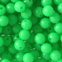 100x 8mm Round soft Glow Rig Beads Fishing Lure Floating Float Tackles Portable