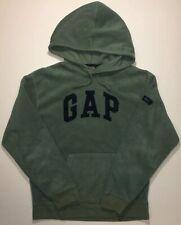 Vintage 90s GAP FLEECE SPELLOUT Pullover Hoodie Sweatshirt Sz S M Green Blue