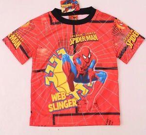 Marvel Comics Spider-Man Sense Kids Boys UV-Protection Red T-shirt Size XS S M L