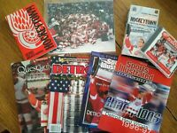 Detroit Red Wings Stanley Cup 96-98 Collectibles magazines dvd vhs pic+ Lot of 8