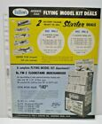 """1960 GUILLOW'S """"AUTHENTIC SCALE """" Flying model double sided Dealer Sales flyer"""
