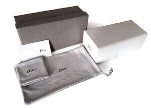 Christian Dior Sunglasses Eyeglasses Sunglass White Case Pouch Cloth Card New
