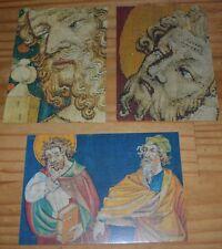 Lot de 3 cartes postales sur le thème de la Tapisserie de l'Apocalypse à Angers,