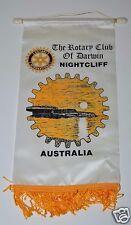 Vintage Darwin Nightcliff Australia International Rotary Club Banner Flag RARE