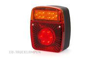 LED RÜCKLICHT - 121 x 101 mm - UNI FÜR 12/24 VOLT - HECKLEUCHTE MIT E-ZULASSUNG