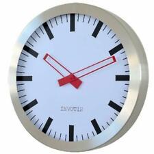 Invotis XL Big Station Clock Modern Elegant Silent Non-ticking Metal Giant Wall