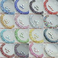 Wholesale 100pcs Czech Crystal Rhinestone Rondelle Spacer Beads Bead Cap 8mm