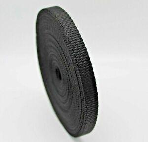 10mm Black Nylon Polypropylene Webbing Tape strapping x 10