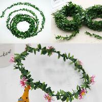 7,5 Mt Seide Girlande Grünes Blatt Eisendraht Künstliche Blume Für Kranz Blumen