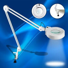 5X Desk Table Clamp Mount Magnifier Lamp LED Light Magnifying Glass Crafts US