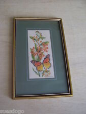 CASH'S SILK FRAMED PICTURE - WILDLIFE SERIES - MONARCH BUTTERFLY 27cms x 17cms