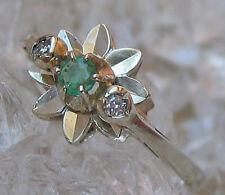 ✨0,06 ct.✨  Diamanten Smaragd Ring in aus 585 Gold mit Brillant Smaragde Diamond