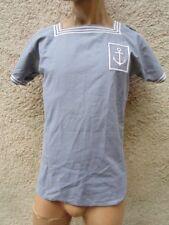 MARINE NATIONALE : CHEMISETTE BLEU DE CHAUFFE ANNEES 50 - 60 vêtement de travail