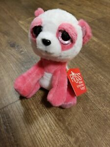 """RUSS Lil Peepers PANDA ORCHID Pink & White 6"""" Plush New w/ Tag"""