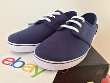 New Mens Circa Crip Low MIDNIGHT NAVY Size 12 dark blue white canvas skate