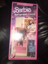 Vintage Barbie Sweet Roses Refrigerator Freezer with Groceries 1987