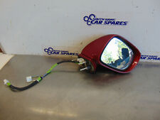 Lexus IS220 05-08 XE20 Drivers Right Door Wing Mirror Red 3R1 Powerfold + Puddle