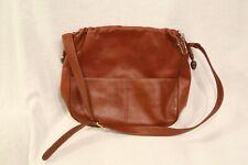 Vintage Lladro Cordovan Leather Shoulder/Crossbody Handbag w/Ceramic Accents