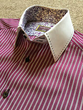 Timothy Everest Marks & Spencer Floreale Dettaglio BERRY STRIPE SHIRT S SMALL