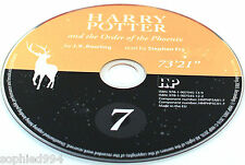Harry Potter Order of the Phoenix Stephen Fry Audio CD Book SPARE DISC: 7 SEVEN