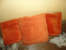 Westpoint Pepperell Orange Spice Velour (3Pc) Bath & Hand Towels Set