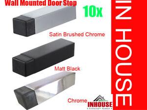 10x door stops stoppers holder Chrome, Satin, Matt Black (1975) 1685
