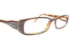 Prada VPR15G 7OI-1O1 Womens Brown Tortoise Rx Designer Eyeglass Frames 51/16~135