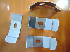 VERTICAL BLINDS RECESS FITTING METAL BRACKETS FOR TRACKS CLIP ON BLIND PARTS x 4
