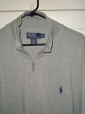RALPH LAUREN POLO ZIPPERED SWEATSHIRT JACKET GREY SIZE XXL 2XL