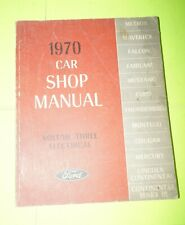 1970 Ford Car Mustang Thunderbird Factory Service Shop Manual Vol 3 Electrical