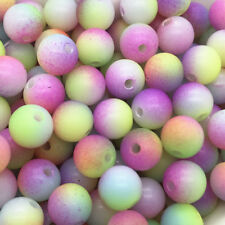 5mm 100pcs Round Pearl Matte multicolored Loose Beads Spacer Jewelry Making #08