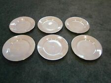 Thuny Dessert Plates (6) Iridescent Pearl with Gold Trim Vintage Czech
