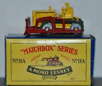 Matchbox Original Recreations BULLDOZER 18A ON CARD