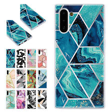 Glossy Marble Pattern Soft Shockproof Case Cover For Samsung Galaxy Phone/Note10