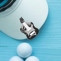 Professional Magnetic Golf Cap Hat Visor Clip Ball Aiming Marker Guitar Design